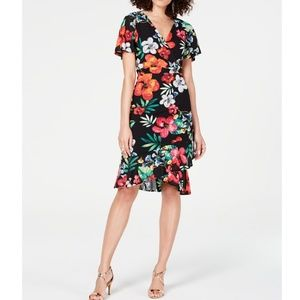 THALIA SODI Floral-Print Wrap Dress